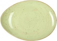 Continental Continental Rustics - Green Coupe Platter 32 cm Блюдо вытянутое 32 см, зеленое