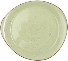 Continental Continental Rustics - Green Pebble Plate 31*28 cm Тарелка асимметричная 31х28 см, зеленая
