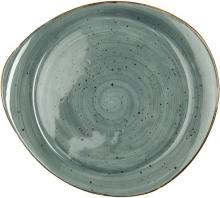 Continental Continental Rustics - Blue Pebble Plate 31*28 cm Тарелка асимметричная 31х28 см, синяя