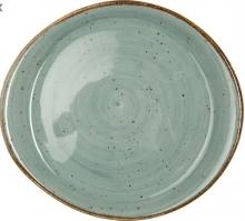 Continental Continental Rustics - Blue Pebble Plate 25,5*21,5 cm Тарелка асимметр25,5х21,5см, синяя