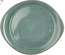 Continental Continental Rustics - Blue Pebble Plate 20*18 cm Тарелка асимметричная 20х18 см, синяя