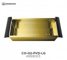 Omoikiri Omoikiri Коландер CO-02-PVD-LG нерж. сталь/светлое золото  Аксессуар