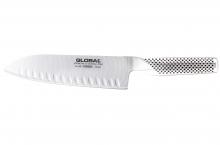 Global Global Нож  сантоку  с  фестончатыми карманами, ↕ 18 см, G-80
