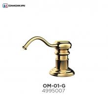 Omoikiri Omoikiri OM-01-G латунь/золото Дозатор для моющего средства
