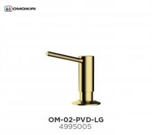 Omoikiri Omoikiri OM-02-PVD-G латунь/светлое золото Дозатор для моющего средства