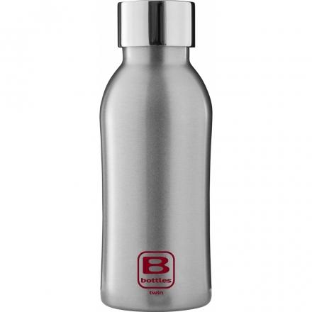 Bugatti Бутылка для воды Bottle TWIN silver brushed BBT-SB350IN