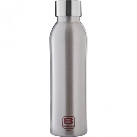 Bugatti Бутылка для воды Bottle TWIN silver brushed BBT-SB500IN