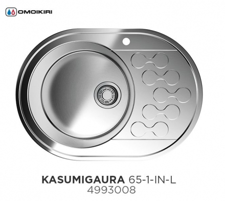 Мойка Omoikiri Kasumigaura 65-1-IN-L